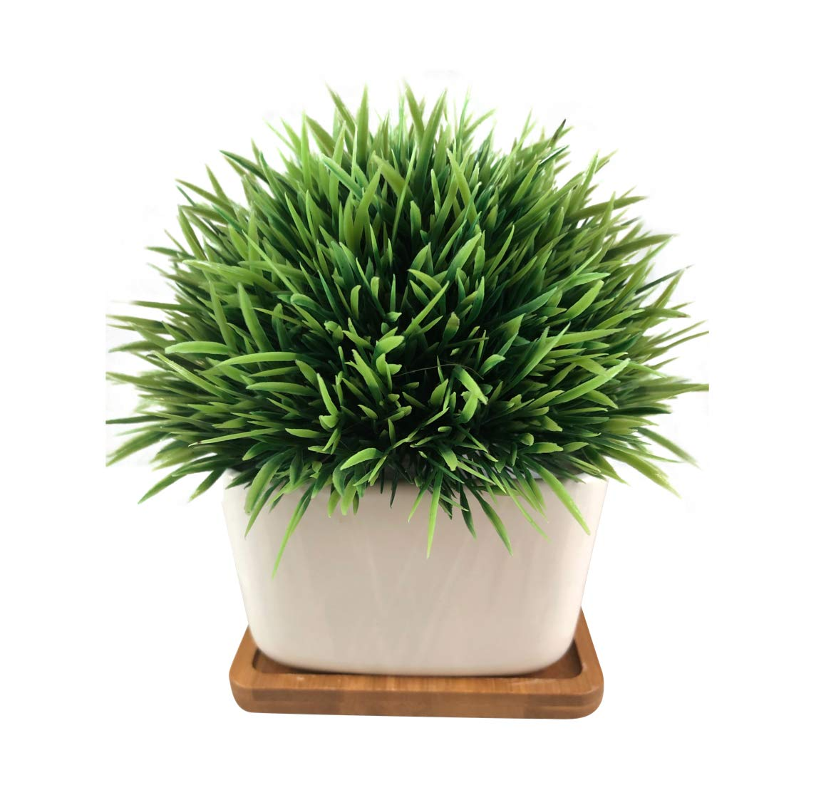 Fake Plant for Bathroom/Home Decor, Small Artificial Faux Greenery ...