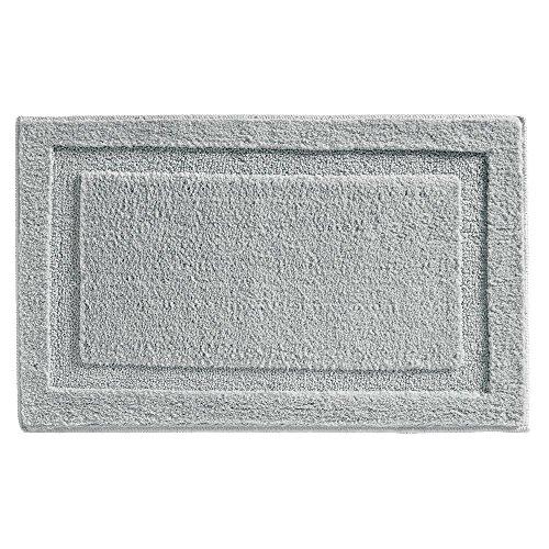 InterDesign - SPA - Tapete con Relieve de Microfibra Suave para Cuarto de baño, Antideslizante - 86 cm x 53 cm - Gris