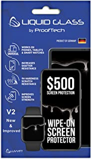 Liquid Glass Screen Protector with $500 Screen Protection - Scratch Resistant Wipe On Coating for All Apple Samsung and Ot...
