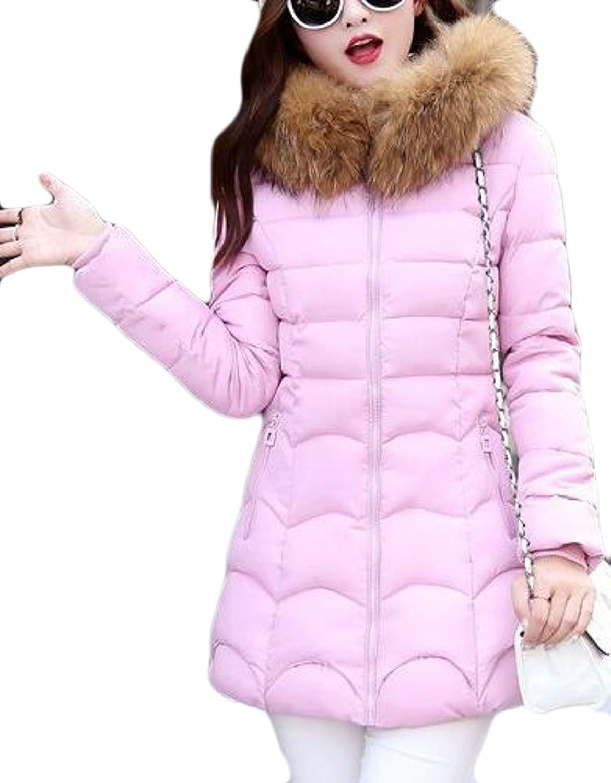 GenericWomen Generic Women's Warm Down Coat Faux Fur Hooded Parka Puffer Jacket