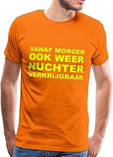 Spreadshirt Nuchter Grappige Koningsdag Mannen Premium T-shirt