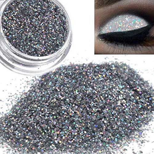 Cwemimifa Lidschatten-Palette Lila,Sparkly Makeup Glitter Loose Powder Lidschatten Silber...