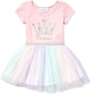 Baby Girls Graphic Short Sleeve Tutu Dress