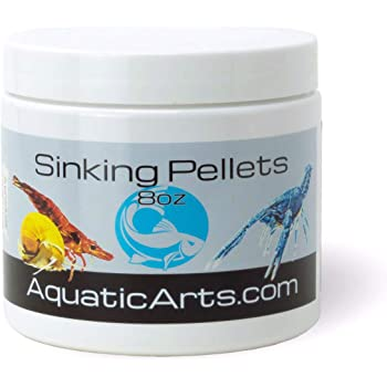 Aquatic Arts Sinking Pellets (.5 lb Spirulina Tabs) Freshwater Fish Food (Cichlid Tetra) | Shrimp Pellets | Aquarium Snail Food (Nerite Trapdoor Ramshorn) | Crayfish Food | Hermit Crab Food and More