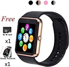 Smart Watch,Bluetooth Touch Screen Watch Phone for Android iPhone Pedometer Smartwatch Sport Wrist Watch Compatible Samsung iOS Men Women Kids …