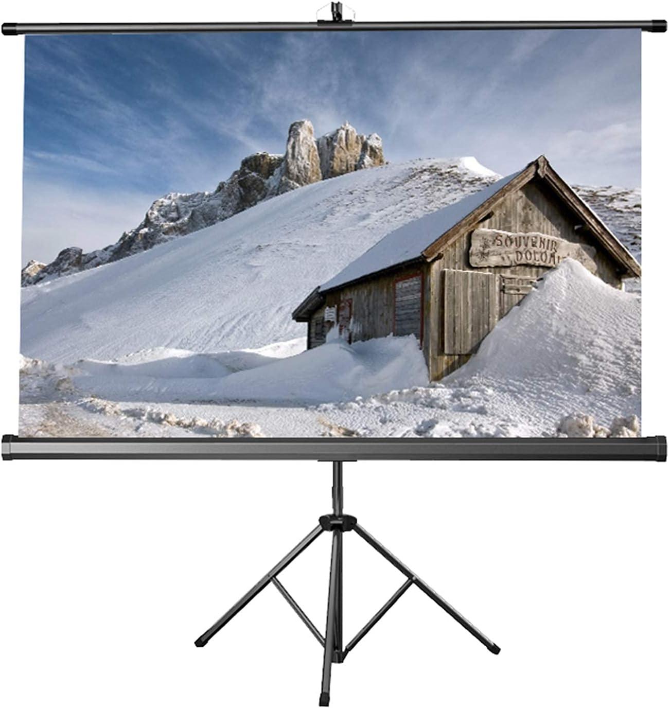 FMOGE Projector Screen with Stand 60 inch, Premium Waterproof Projection Screen for Indoor Outdoor Cinema Durable Movie Screens 4:3/16:10/16:9