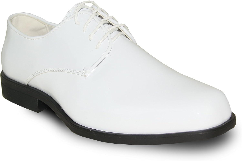VANGELO herrar Tuxedo skor Tux Tux Tux -1 Rynkle Free Dress skor Formal Oxford vit Patent  grossist-