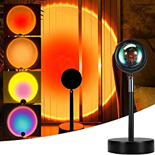 Sunset lamp Multi Color, Projector Rainbow Light 180 Degree Rotation Led Night Lamp for Bedroom Decor/Photography/Selfie/H...