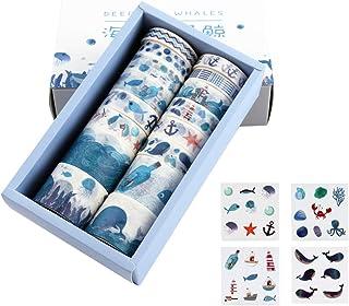Lychii 16 Rolls Multi-Pattern Washi Tape Ruban Adhésif Papier Décoratif Masking Tape Scrapbooking, Embellissez Bullet Jour...