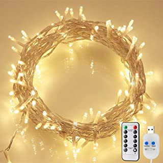 koopower 100 LED 36ft USB Powered String Lights & 2 Pack Battery Operated Fairy Lights Christmas Fairy Lights Waterproof T...