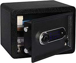 Lovndi Security Safe Box 0.5 Cubic Feet, Digital Safe Electronic Home Safe with Keypad, 13.8 x 9.8 x 9.8 inches, Black