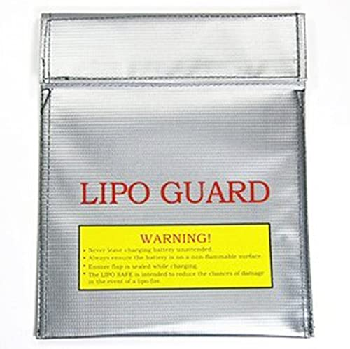 high quality Mallofusa Small LiPo Battery Guard Sleeve/Bag Fireproof new arrival Safe Safety Charge Charging Pouch Case for Charge 2021 & Storage Silver online sale