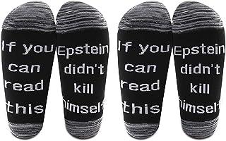 AATOP, Calcetines divertidos de la conspiración de AATOP si usted puede leer este Epstein no se mató a sí mismo calcetines Marido Navidad calcetines