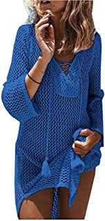 NFASHIONSO Women's Fashion Swimwear Crochet Tunic Cover Up/Beach Dress