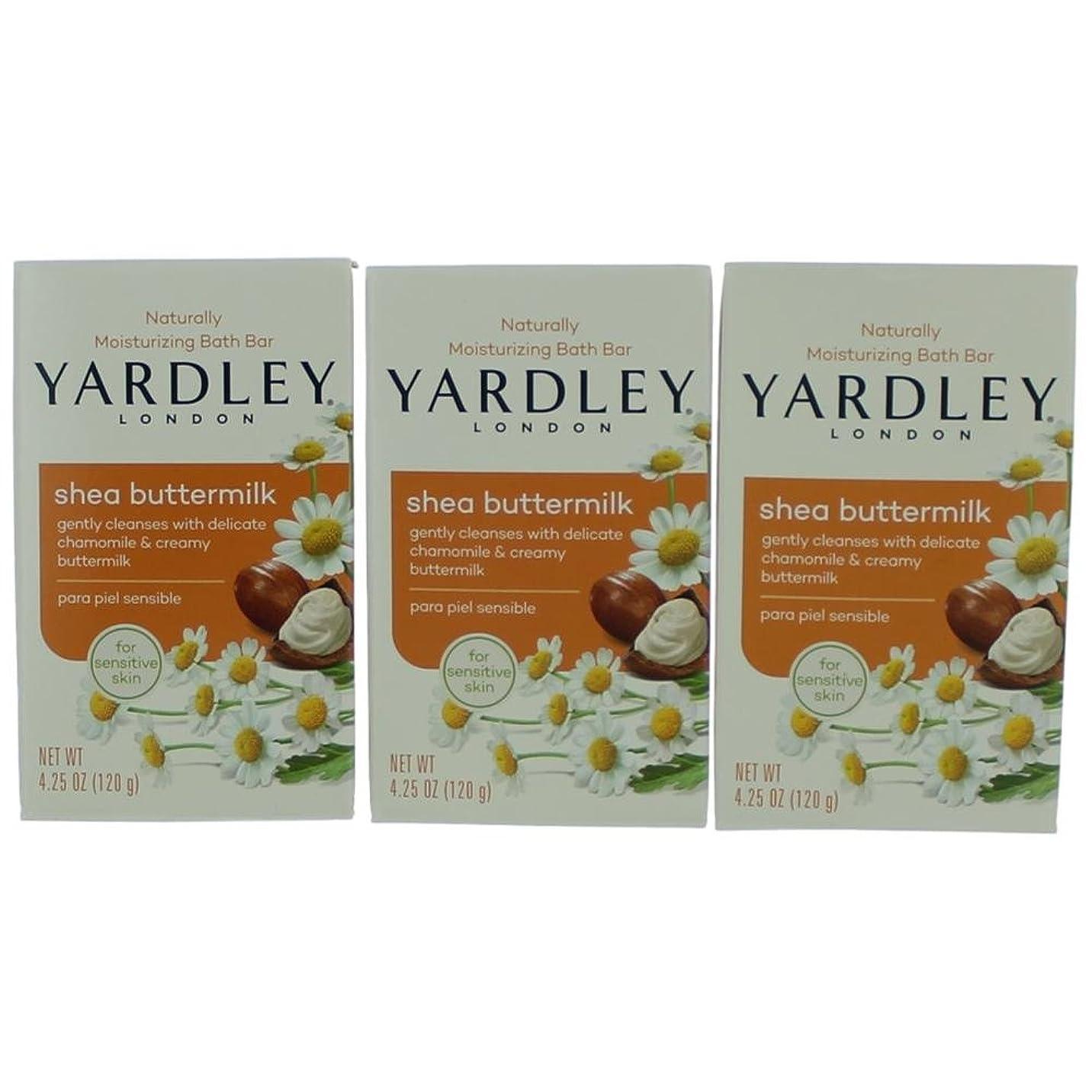 認めるかる忘れっぽいYardley ロンドン敏感肌シェイバターミルク石鹸、4.25オズ(4パック) 4パック