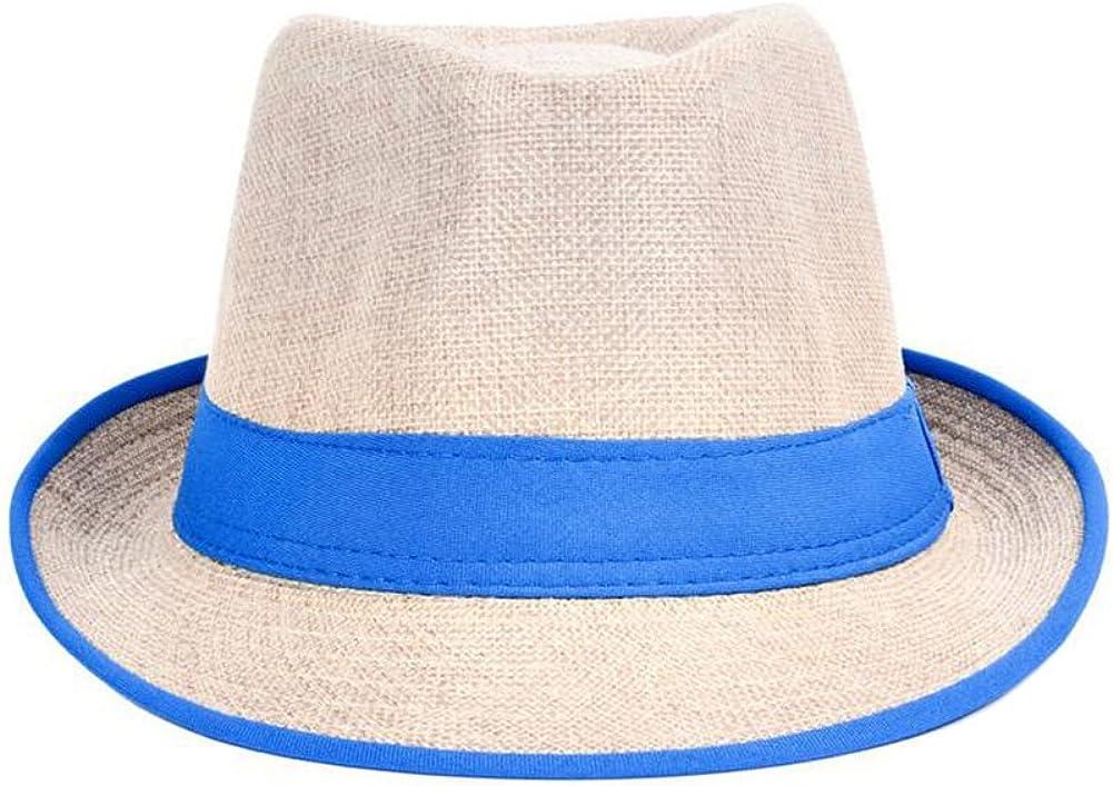 Qingsun Men/Women's Summer Panama Style Fedora Straw Sun Hat