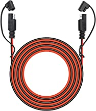 25 Foot SAE to SAE 2 Pin Quick Disconnect Harness,DC 12V Power Connector Plug Battery Charger SAE Power Extension Cable for Motorcycle,Car,Tractor,18 AWG Gauge + Dust Cap