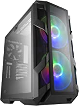 Cooler Master MasterCase H500M ARGB Airflow ATX Mid-Tower with  Quad Tempered Glass Panels, Dual 200mm ARGB Fans, Type-C I...