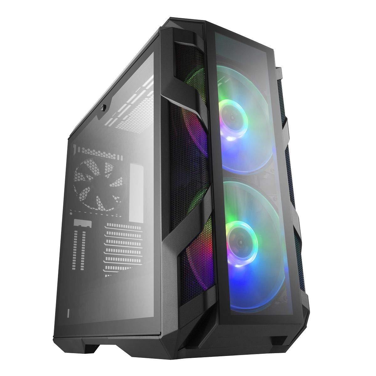 Cooler Master MasterCase H500M ARGB - Caja PC con Dos Ventiladores 200mm para Potente Flujo de Aire, 4 Paneles Cristal Templado, Soporte Avanzado, ATX: Amazon.es: Informática