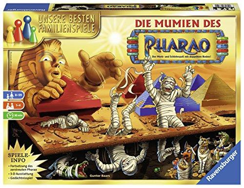 Ravensburger 26752 - Die Mumien des Pharao, Suchspiel für Kinder und Erwachsene ab 8 Jahren, Gesellschaftsspiel für 2-4 Spieler, die besten Familienspiele