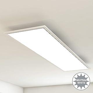 Briloner Leuchten–Panel de luz de techo, lámpara de techo o salón, 38W, rectangular, blanco, 119,5 cm