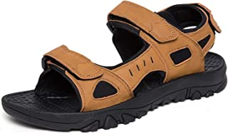 RHSMW Men's Off-Road Sandals, Large-Size Summer Outdoor Slippers, Piercing Air outside The Beach, Walking, Hiking And Fishing