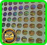 Etichette con ologramma di sicurezza 1200, etichette di garanzia di annullamento sigilli di manomissione rotondi da 6 mm