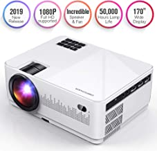 DBPOWER L21 LCD Video Projector, 3600L 1080P 1920x1080 Supported Full HD Mini Movie Projector with HDMIx2/USB/SD/AV Ports, Compatible with Smartphone/VGA/TV/PS4/DVD Ideal for Home Theater(Loud Sound)