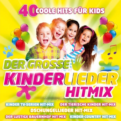 Der große Kinderlieder Hitmix; 40 Coole Hits für Kids; Kinderparty; Kinder TV-Serien Hit-Mix; Tierische Kinder Hit Mix; Dschungel lieder Hitmix; Lustige Bauernhof Hit-Mix; Kinder Country Hit-Mix; Geburtstagsparty Hitmix; Das kleine Küken piept; Wickie