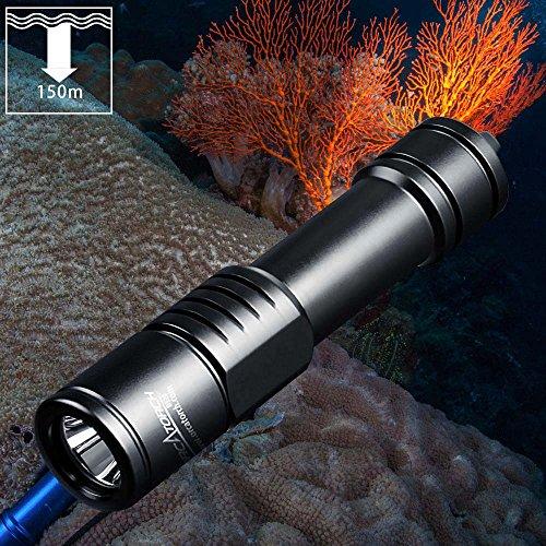 Linterna de buceo ORCATORCH D520 1000 lúmenes Lámpara de buceo recargable