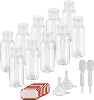 Kakoo Set di flaconi da viaggio, per articoli da toletta contenitori per liquidi dimensioni adatte al viaggio in aeroplano...