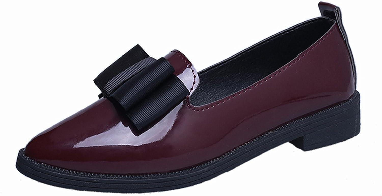 Robert Reyna Fashion Women Casual Pointed Toe Black Oxford for Women Flats Comfortable Slip on Women b971