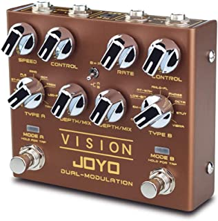 JOYO Vision R-09 R Series Dual Channel Modulation Multi Effects Pedal Supports Stereo Input and Output Channel Features 9 ...