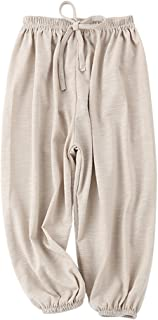 PAUBOLI Baby Long Bloomers Soft Slub Cotton Harem Pants for Boys Girls 12M-7T