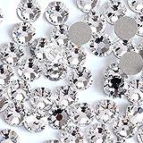 Onwon 144 Pieces SS40 / 8mm Clear Crystal Flat Back Brilliant Round Rhinestones Glass Stones Glitter Gems Transparent Faux Diamond (Clear)