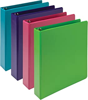 Samsill Earth's Choice Biobased Durable 3 Ring Binders, Fashion Clear View 1.5 Inch Binders, Up to 25% Plant Based Plasti...