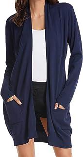 GRACE KARIN Women Open Front Cardigan Sweaters Pockets Long Sleeve Shrugs