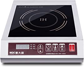 MDC 3500W / 5000W Induction Cooktop 220V Commercial Induction Cookware Stove Stainless Steel Electric Countertop Burner Hot Plate with Digital Display Panel (3500W Touch Button)