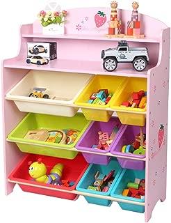 YLiansong Children s Toy Storage Rack Children s Toy Storage Box Toy Storage Shelf-Without Box Room Storage Rack  Color Pink  Size 100 79 5 30CM