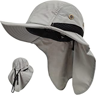 LETHMIK Kids Outdoor Sun Hat,Waterproof Fishing Cap for Children with Neck Flap