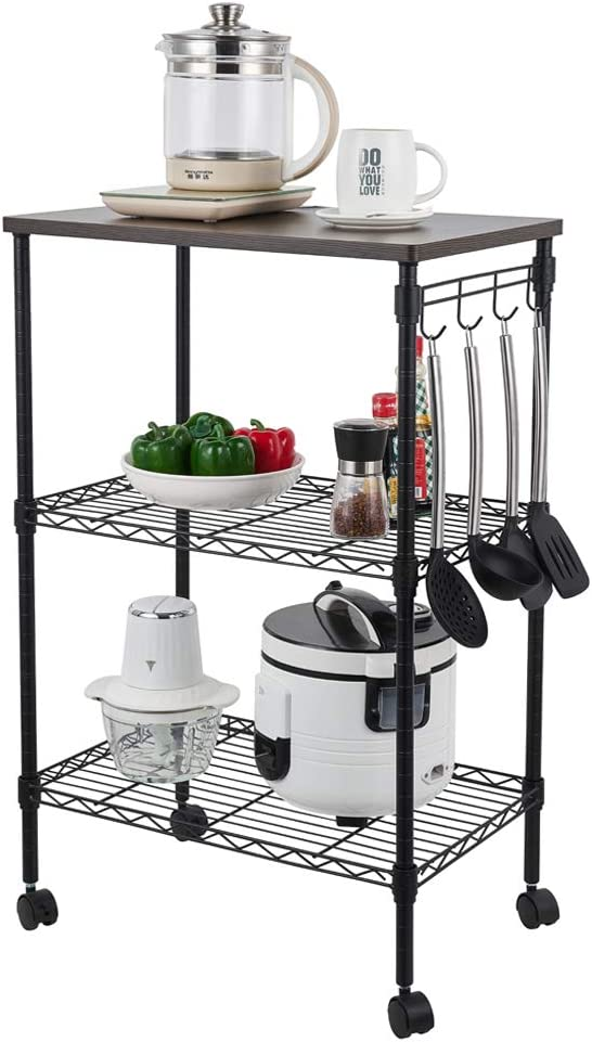 YOUBTQ Kitchen Baker's Rack Microwave Utility Cart Tier Kitc Animer and price revision 3 Dedication