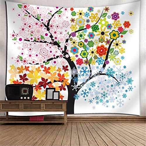 Heeboode Tapestry Wall Hanging,Tapiz psicodélico Bohemio Hippy árbol G2932 Tapiz Dormitorio Sala de Estar hogar Tapiz de Arte,Estera de Picnic al Aire Libre de la Toalla de playa-140x210cm(55x83in