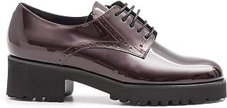 alta calidad LUCA GROSSI - Medium Heel Derby zapatos in Burgundy Patent Patent Patent Leather - C167VERLLUX Bordeaux  comprar nuevo barato
