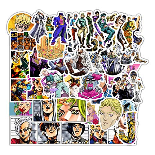 Bowinr JoJo's Bizarre Adventure Car Stickers, Anime Bumper Sticker for Phone, Laptop, Car, Luggage, Skateboard and More(Style 20)