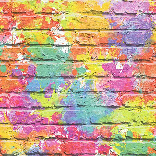 Muriva Camouflage baksteen behang - mix voyeur Geslacht