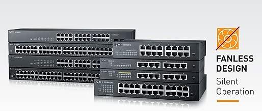 Zyxel 8-Port Gigabit Switch, 70W PoE+, Easy Smart Managed, Fanless, (GS1900-8HP)