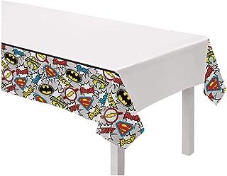 Justice League Heroes Unite Design Plastic Table Cover-1pc