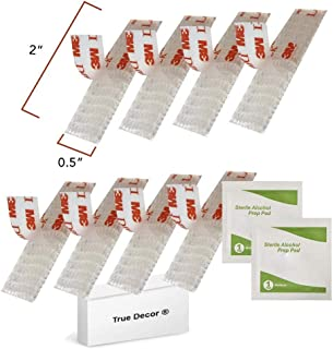 EZ Pass/IPass/Fastlane Mounting Kit - 8pcs (4 sets) Reclosable Fastener with 2 Alcohol Prep Pads