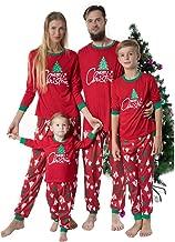 Matching Family Pajamas Christmas Red Sleepwear Xmas Tree Print Top Pants Holiday PJs