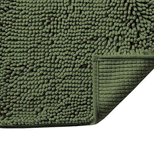 Soft Microfiber Shag Bath Rug Chenille Floor Mat, Extra...